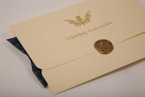 Wedding Invites Scotland: Scottish Plaid Tartan Ribbon